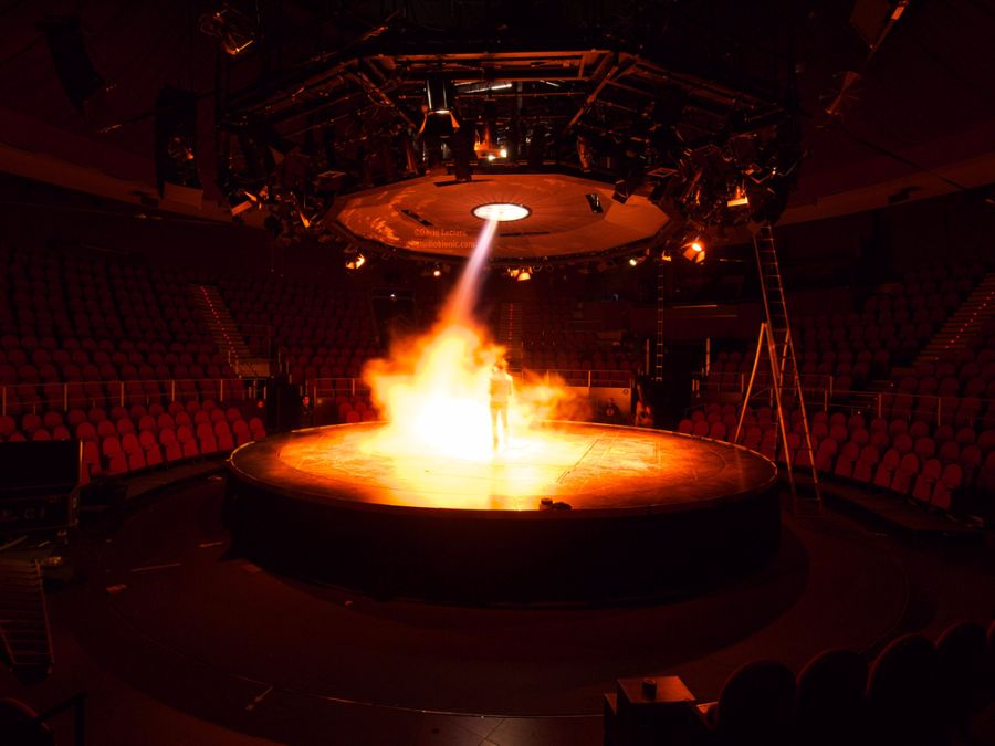 Fog and Fire Tornadoes – Event Art Installation