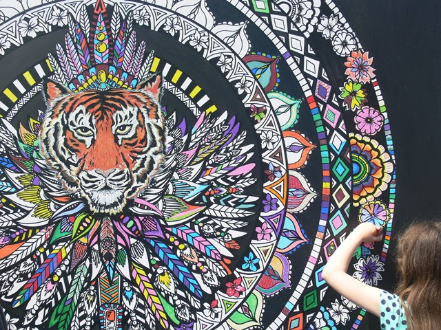 Bespoke Colouring-in Art- Giant Colouring Wall
