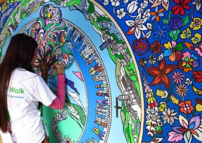 Bespoke Colouring-in Art- Giant Colouring Wall | UK & International