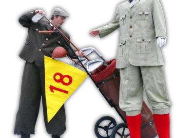 Giant Golfers – Stilt Walkers | Lancashire | UK