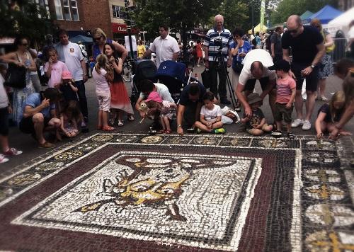 Mosaic Floor Art – Pavement Art