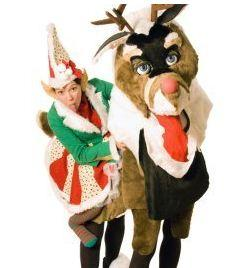 Reindeer & Elf – Walkabout Characters | London| UK