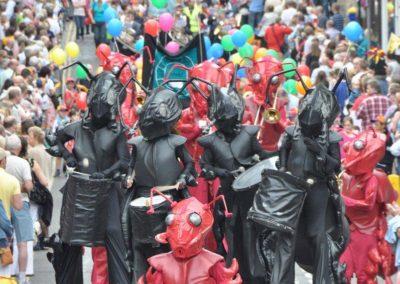The Ant Orkezdra – Stiltwalking Musicians   Newcastle  North East  UK