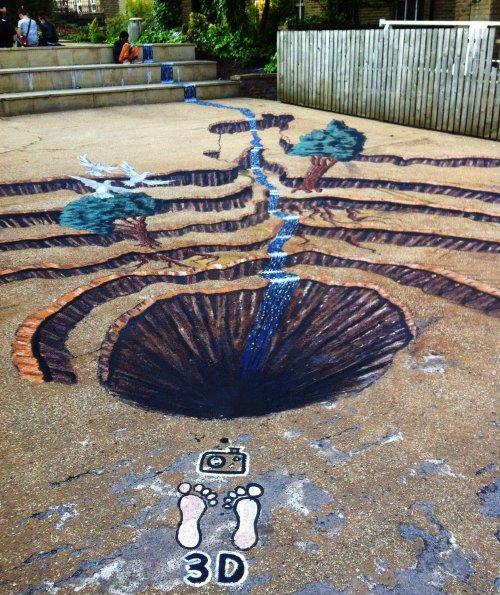 U.C – 3D Pavement Art