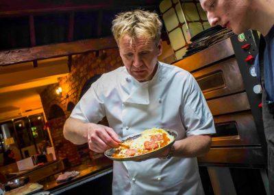 Gordon Ramsay Lookalike food promotion