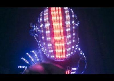 Glow Robot – LED Robot Performer | UK