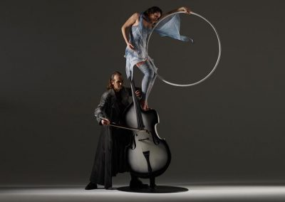 Basseo – Aerialist & Bass Player Duo