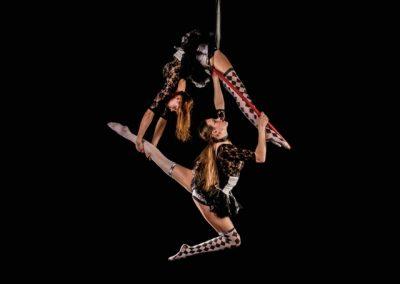 Broken circus duo hoop twins bendy