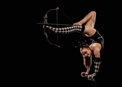 Broken circus foot archery