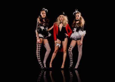 Broken circus girls posing