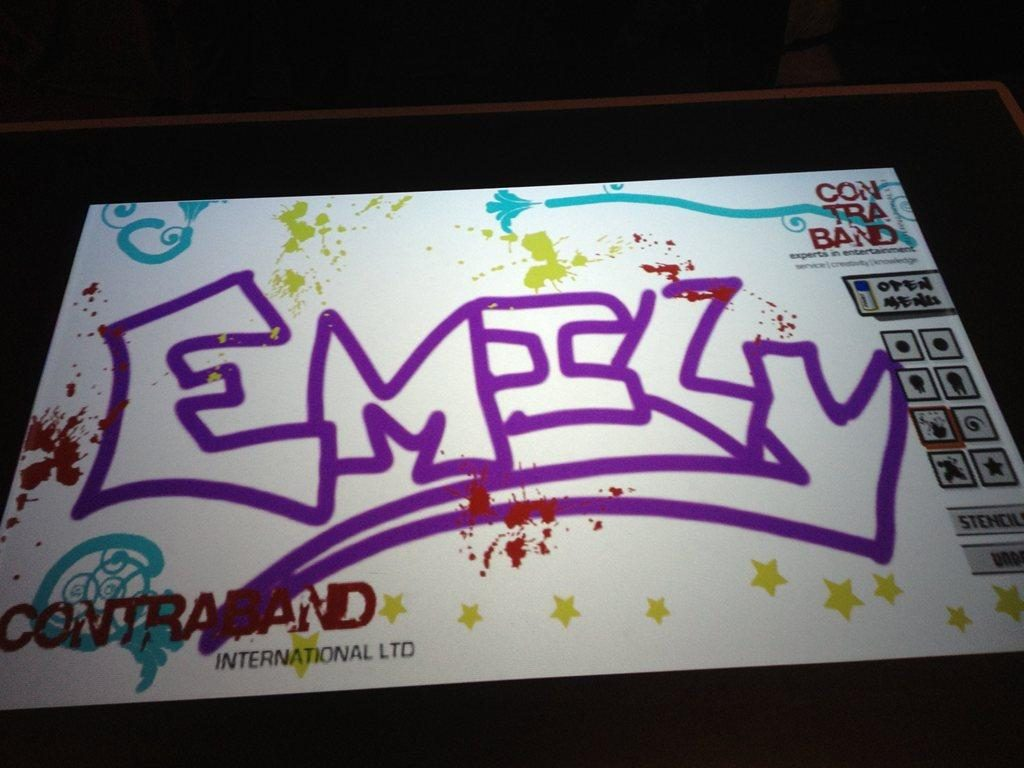 Interactive graffiti wall uk - Prev Next