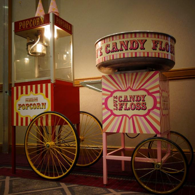Hire love carts candyfloss cart