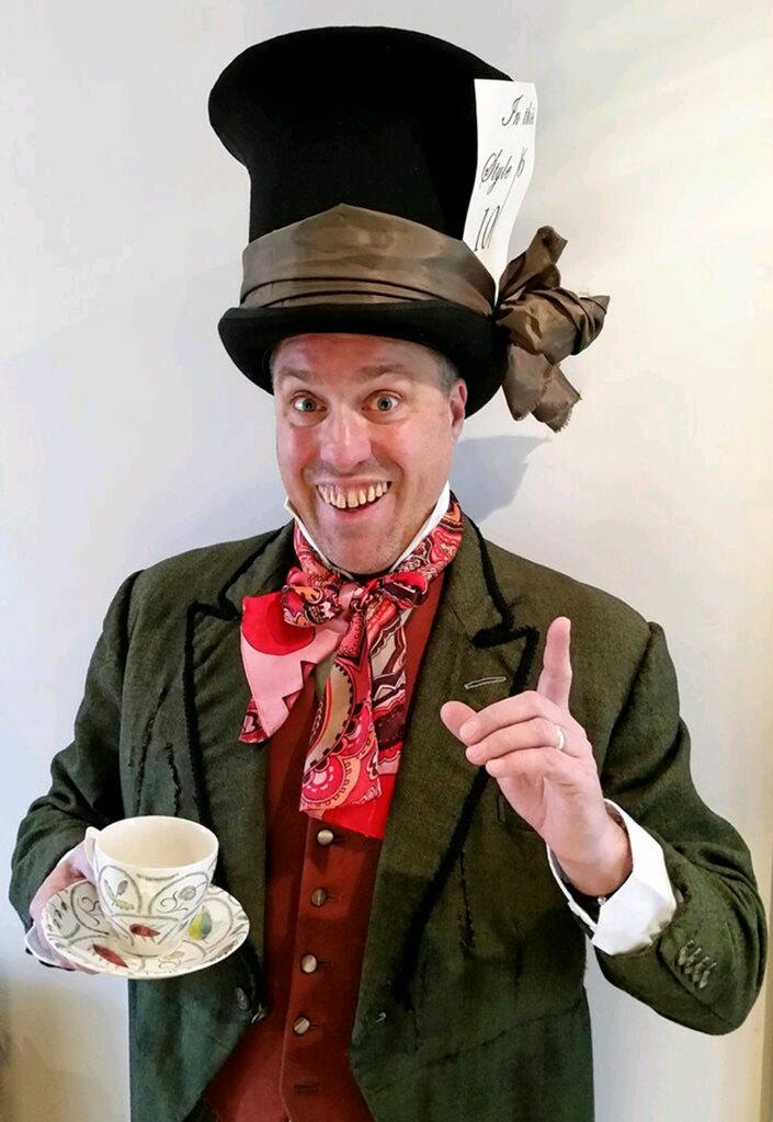 Hire / Book Mad Hatter Walkabout Character   Contraband Events