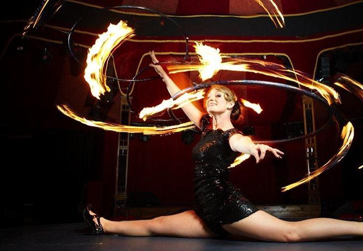 Booking agent for pippa fire performer