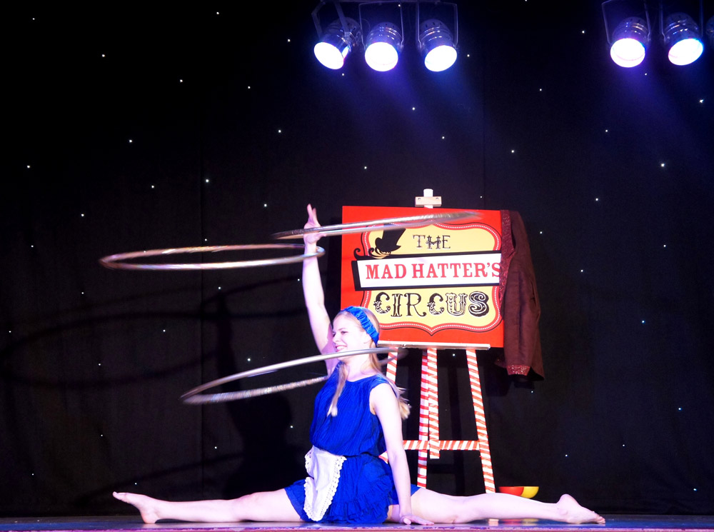 Booking agent for mad hatters circus