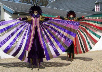 Stilt Walkers, Belgium: Venetian Characters