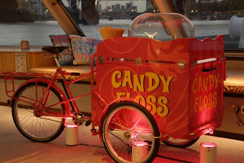 Booking agent for candy floss tricycle