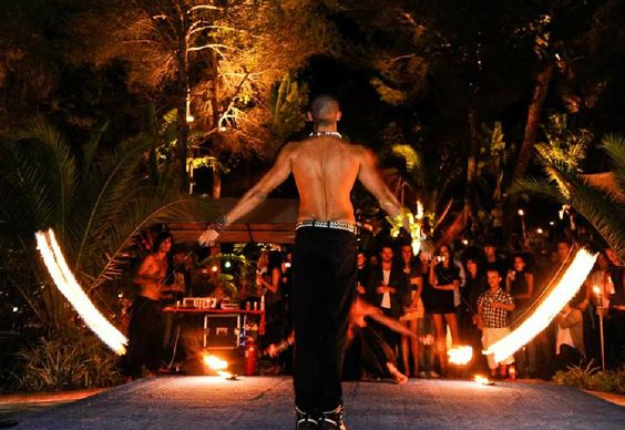 Booking agent for energy fire performers