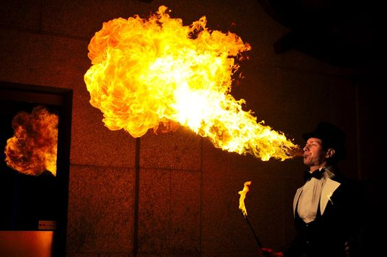 booking agent for gravity fire performers