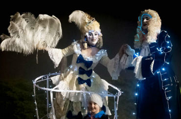 Hire / Book illuminated aristocrats stilt walkers