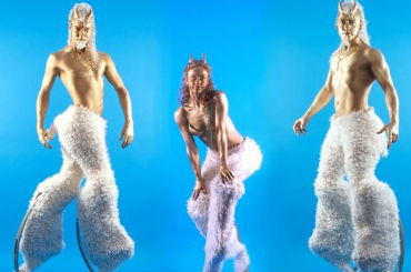 Hire / Book satyrs stilt walking characters