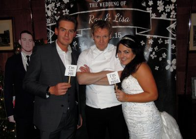 Gordon Ramsay lookalike Martin Jordan wedding entertainment