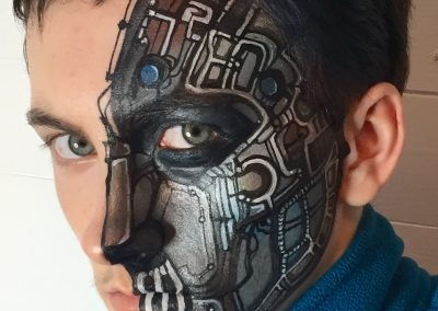 T Cyborg half face by Brierley Thorpe