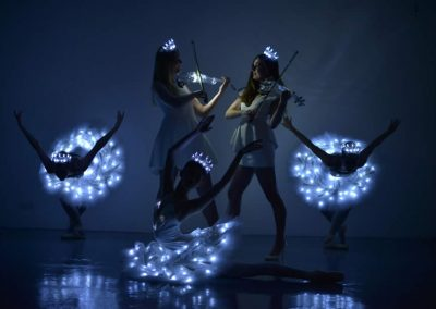 LED Swan Lake Ballerina and Violin Show – Ballet Dancers | Worldwide