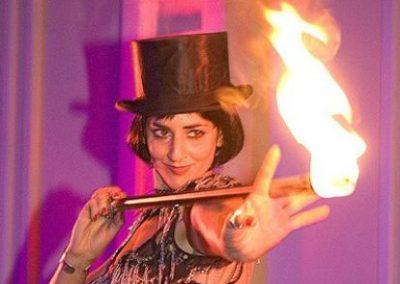 Miss D' – Fire Performer & Angle Grinder | UK