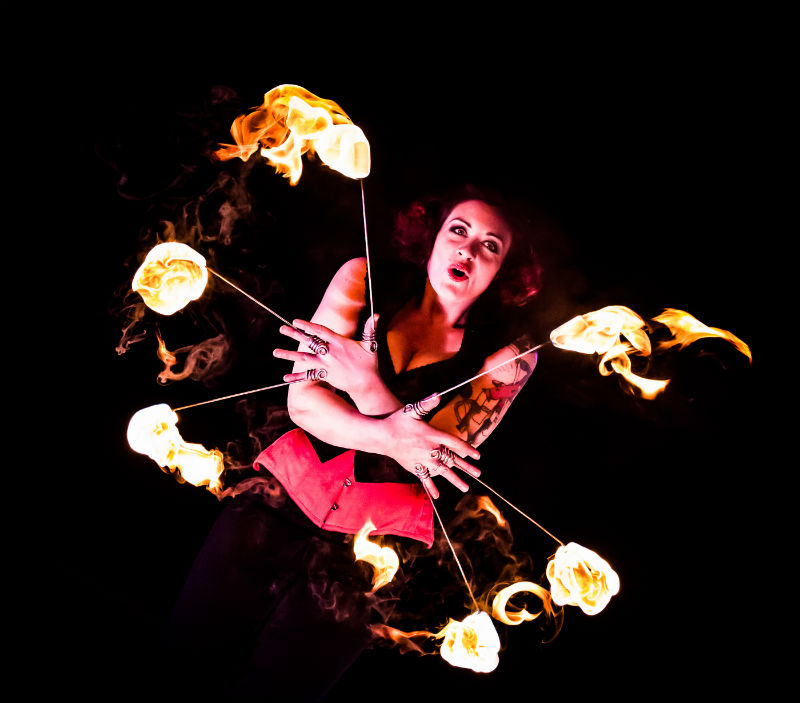Booking Agent for Red Sarah - Fire Performer