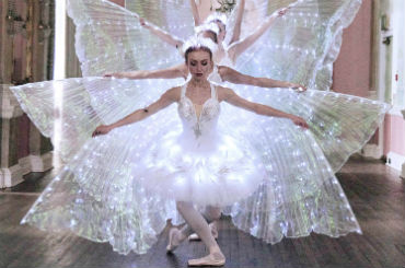 Hire Ballet Dancers - LED Butterfly Ballerinas