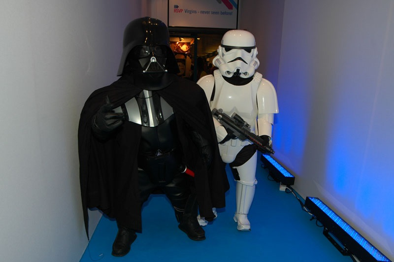 Booking agent for dwarf vader and short troopers