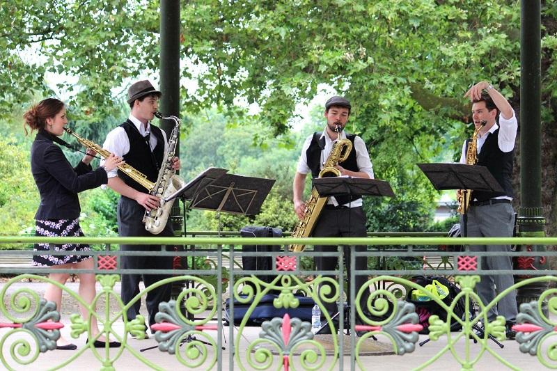 Booking agent for sax quartet