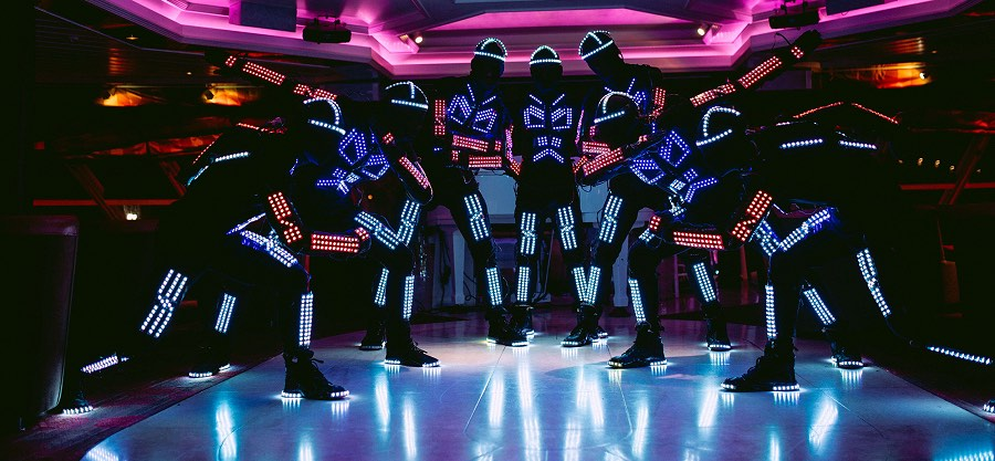 booking agent for LED Tron dance