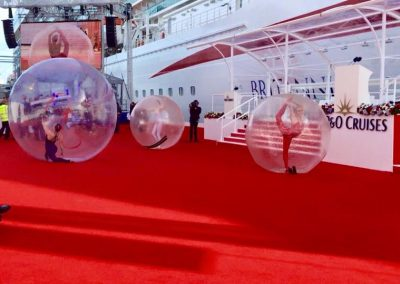 bubble spheres at brittania launch.