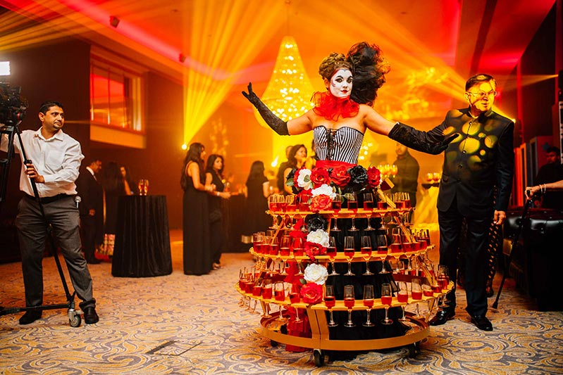 booking agent for Dressed Champagne Tables