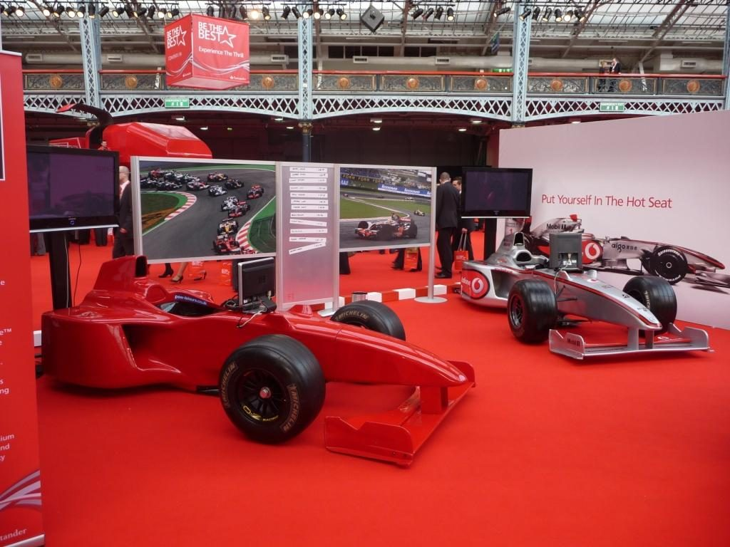 booking agent for f1 simulator