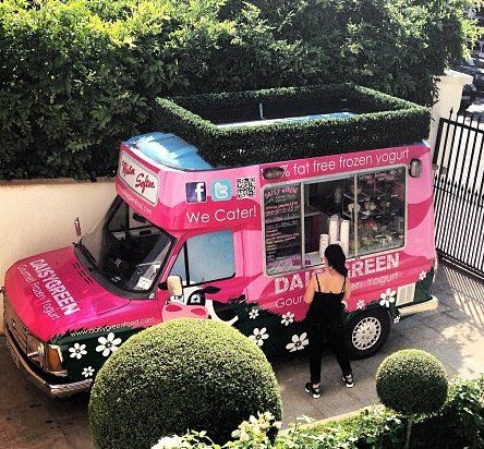 Booking agent for frozen yogurt van