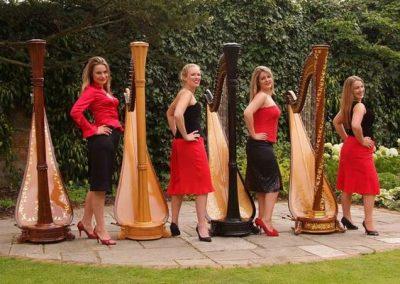 Girls & Harps – Harp Quartet | UK
