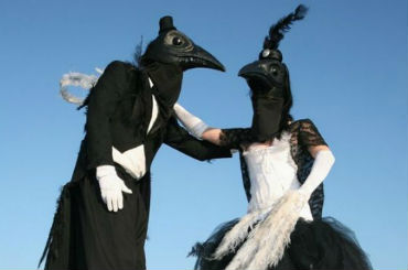 Hire / Book magpie characters stilt walkers