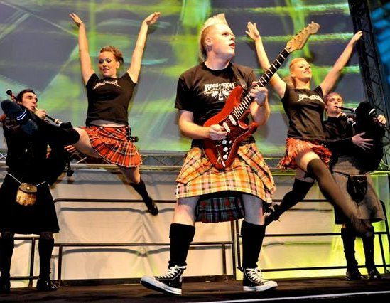 Booking agent for the bagpipe rockers