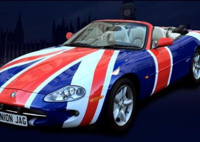 Union Jack Jaguar- British Car for Hire | UK