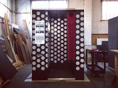 Booking agent for vintage robotic speaking booth