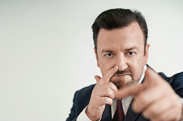 Hire / Book david brent and ricky gervais lookalike