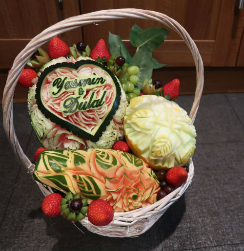 Booking agent for live fruit vegetable carving food