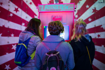 Hire the cardboard arcade arcade games