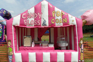 hire popcorn candy floss stall