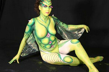 hire raphaelle body painter