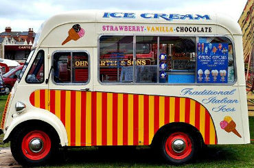 Hire / Book 1950s ice cream vintage van