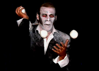 hire anton juggler and halloween juggler